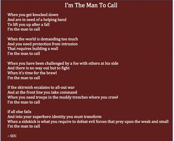 The Man to Call