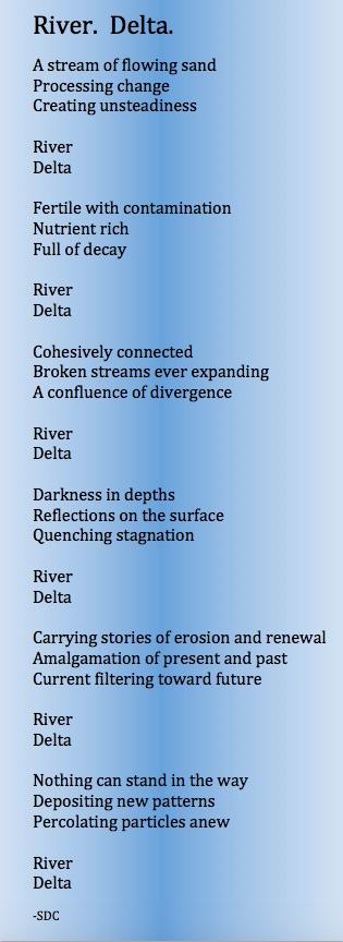 River. Delta.