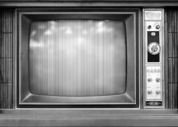 Retro Style Television Set with Bad Picture