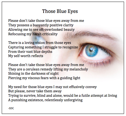 Blue Eyes Poem