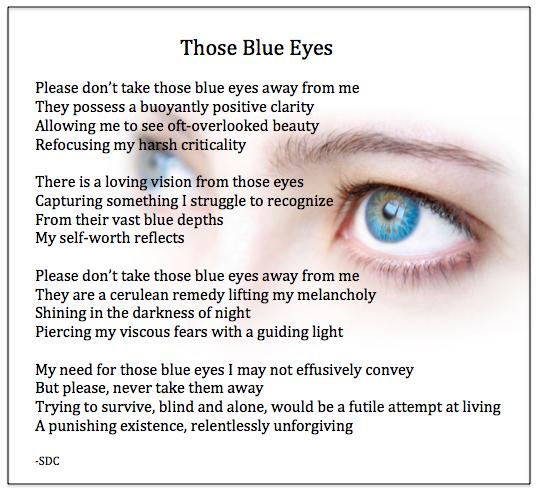 Blue Eyes Poem